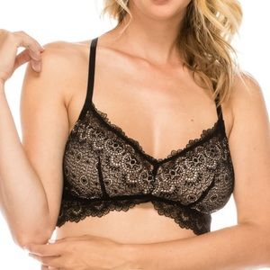 FLORAL LACE OVERLAY BRALLETE